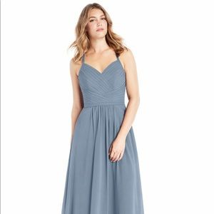 Azazie Amari bridesmaid dress blue size A6